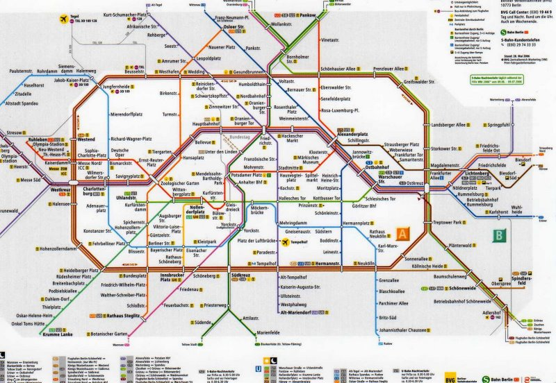 Map Of Berlin Subway My Blog: Berlin Rail Map At Infoasik.co